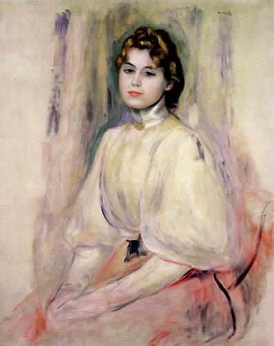 Pierre Auguste Renoir - Sitting young woman