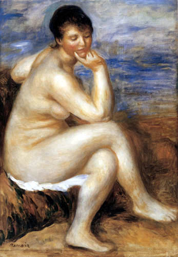 Pierre Auguste Renoir - Bathers on the rocks