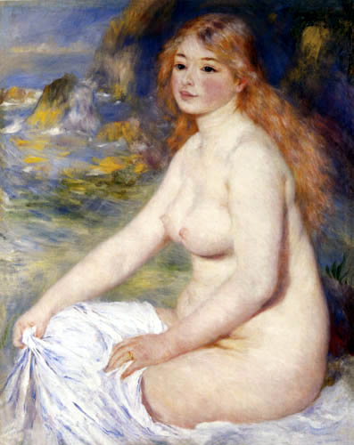 Pierre Auguste Renoir - A blond girl