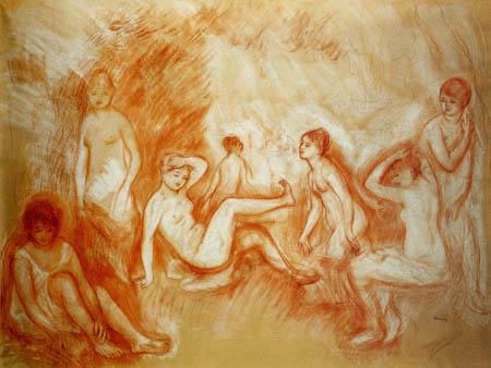 Pierre Auguste Renoir - Der Badeplatz