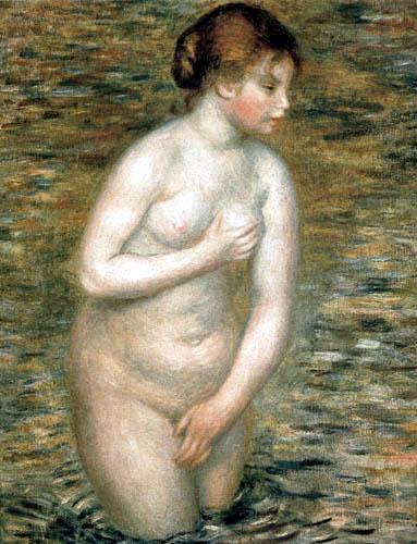 Pierre Auguste Renoir - Weiblicher Akt im Wasser