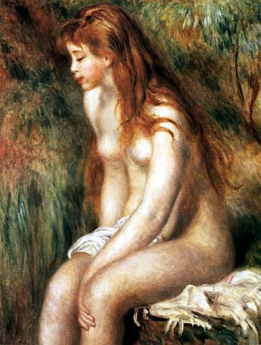 Pierre Auguste Renoir - Sitzende Badende