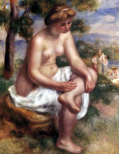 Pierre Auguste Renoir - Eurydice, Bathing Girl