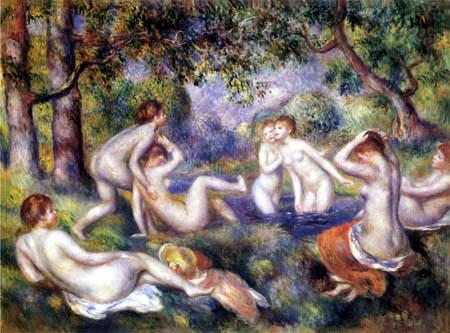 Pierre Auguste Renoir - Badende im Wald