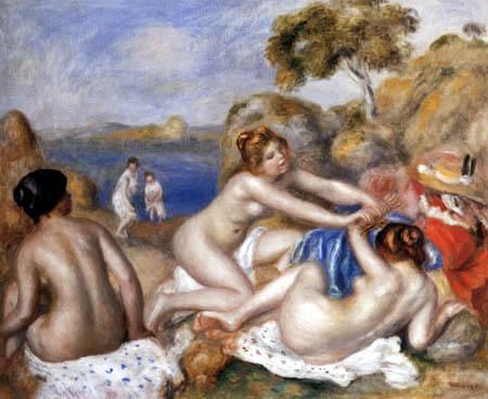 Pierre Auguste Renoir - Spielende Badende