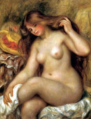 Pierre Auguste Renoir - Woman with long hair