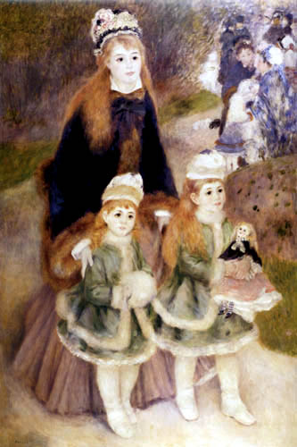 Pierre Auguste Renoir - Mother with children