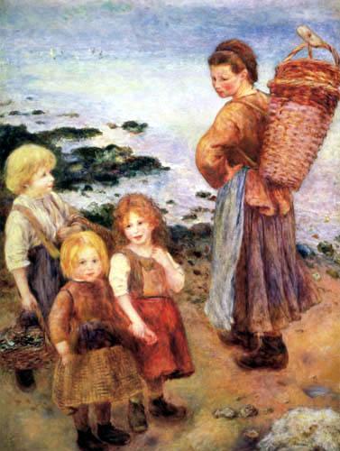 Pierre Auguste Renoir - Shellfish gatherers in Berneval