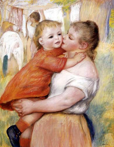 Pierre Auguste Renoir - Wäscherin mit kleinem Kind