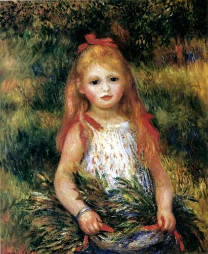 Pierre Auguste Renoir - Kleines Mädchen mit Garbe