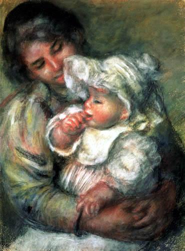 Pierre Auguste Renoir - Kind mit Kindermädchen