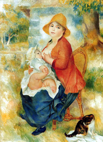 Pierre Auguste Renoir - Stillende Mutter