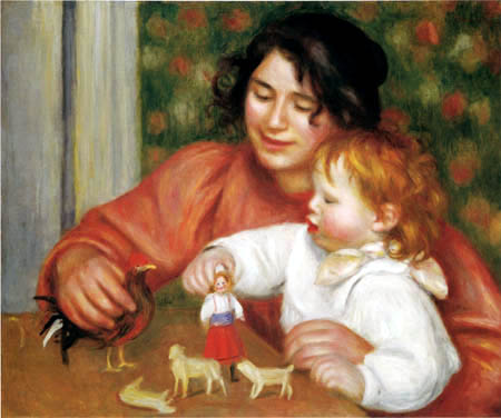 Pierre Auguste Renoir - Gabrielle and Jean with its toy