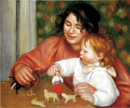Pierre Auguste Renoir - Gabrielle und Jean mit seinem Spielzeug