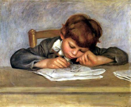 Pierre Auguste Renoir - Jean beim Zeichnen