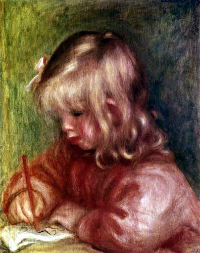 Pierre Auguste Renoir - Coco painting