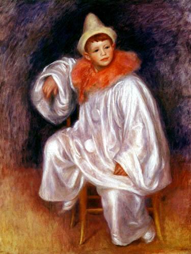 Pierre Auguste Renoir - Jean Renoir als weißer Pierrot