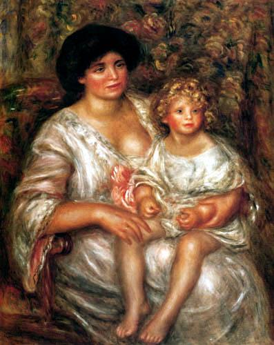 Pierre Auguste Renoir - Madame Thurneyssen with daughter