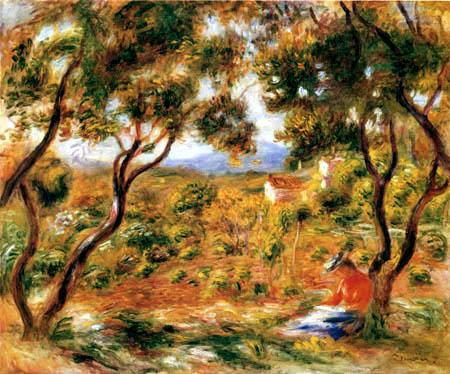 Pierre Auguste Renoir - Weinstöcke in Cagnes