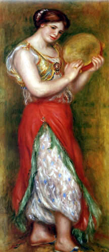 Pierre Auguste Renoir - Tänzerin mit Tamburin