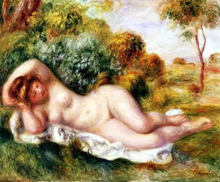 Pierre Auguste Renoir - Liegender Akt