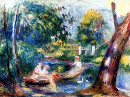 Pierre Auguste Renoir - River landscape