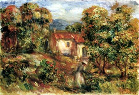 Pierre Auguste Renoir - Woman flower picking