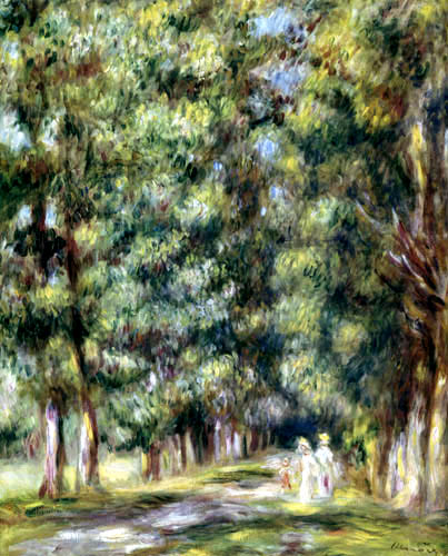 Pierre Auguste Renoir - Avenue below trees
