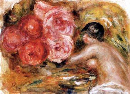 Pierre Auguste Renoir - Roses and Gabrielle