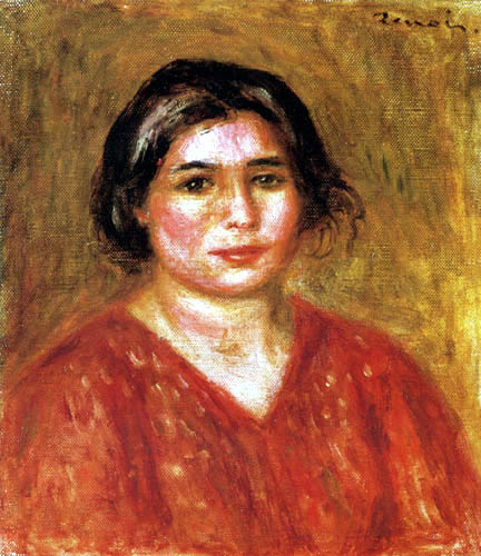 Pierre Auguste Renoir - Gabrielle with red blouse
