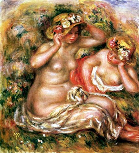 Pierre Auguste Renoir - Weibliche Akte mit Hüten