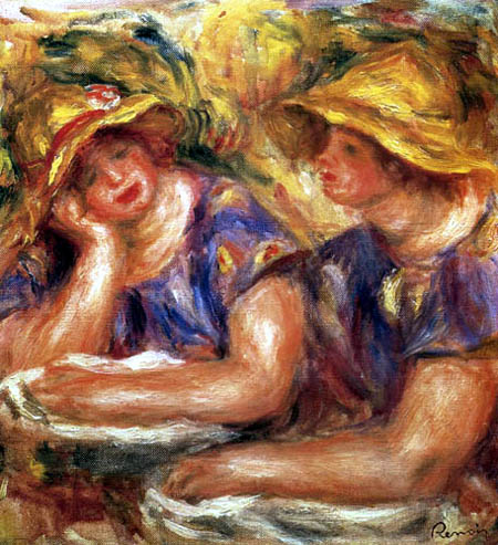 Pierre Auguste Renoir - Two Woman in Blue Blouses