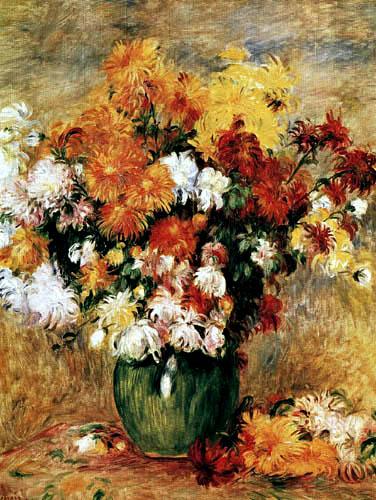 Pierre Auguste Renoir - Blumen in einer Vase