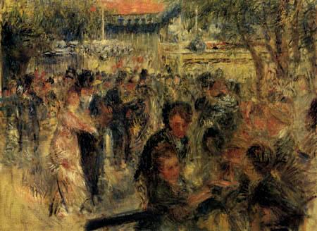 Pierre Auguste Renoir - Le Moulin de la Galette, study