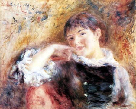 Pierre Auguste Renoir - The dreaming woman