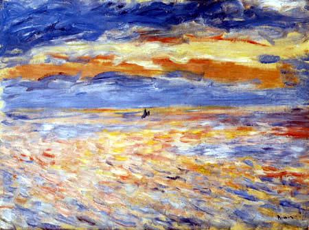 Pierre Auguste Renoir - Sunset at the sea