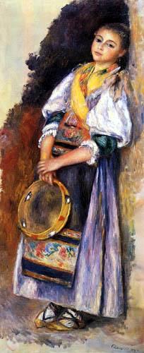 Pierre Auguste Renoir - Muchacha italiana con pandereta