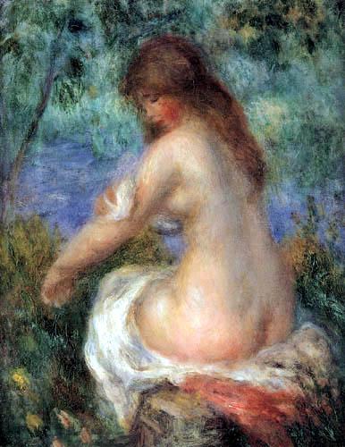 Pierre Auguste Renoir - Bathing girl