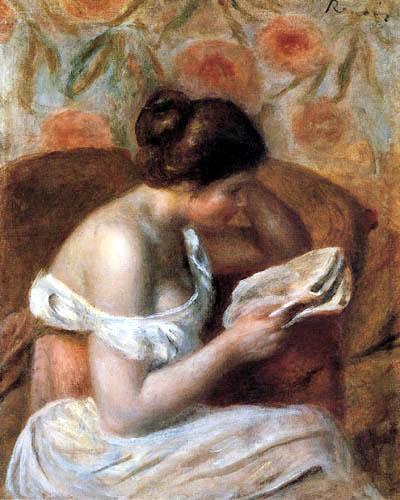 Pierre Auguste Renoir - Lesende Frau