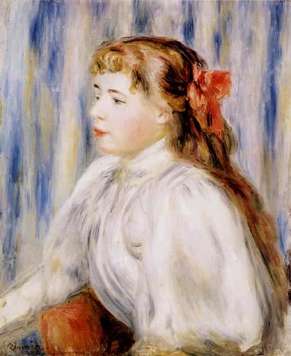 Pierre Auguste Renoir - Mädchenporträt