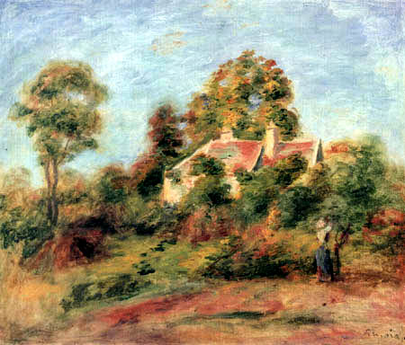 Pierre Auguste Renoir - Landscape with house