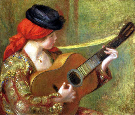 Pierre Auguste Renoir - Spanish girl with guitar