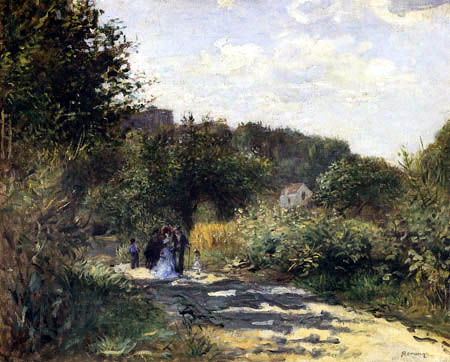 Pierre Auguste Renoir - A road in Louveciennes