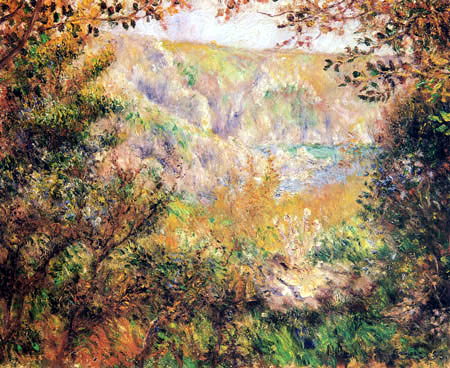 Pierre Auguste Renoir - The bay of Moulin Huet, Guernsey