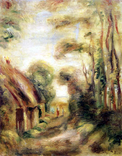 Pierre Auguste Renoir - Thatched roof huts near Berneval