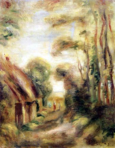 Pierre Auguste Renoir - Strohdachhütten bei Berneval