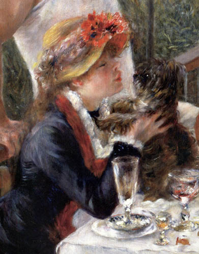 Pierre Auguste Renoir - The Luncheon of the Boating Party, Detail
