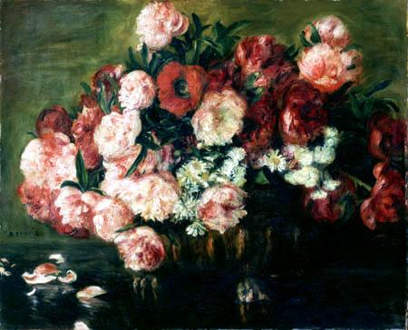 Pierre Auguste Renoir - Schale mit Pfingstrosen