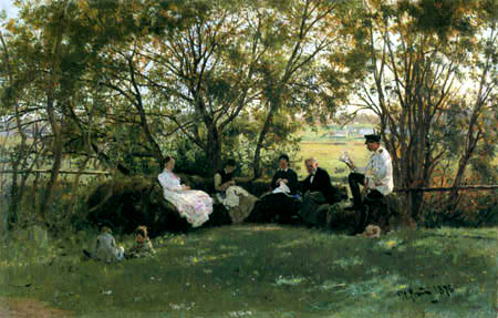 Ilja Jefimowitsch Repin - On the garden bench