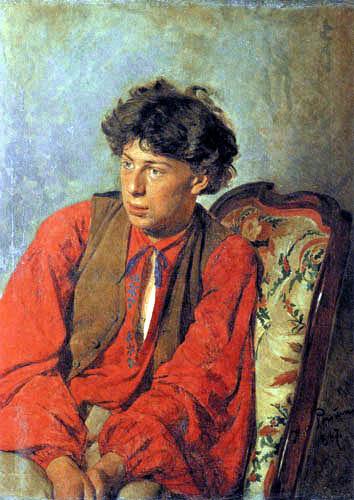 Ilja Jefimowitsch Repin - Portrait of Wassili Repin